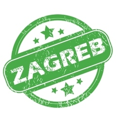 Zagreb green stamp vector