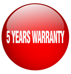 5 years warranty vector