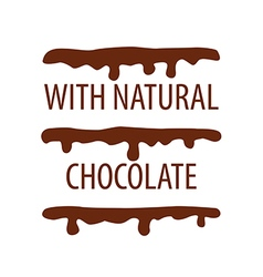 logo cake with natural chocolate vector image