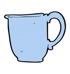 Comic cartoon mug vector