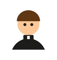 Flat web icon on white background priest vector