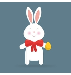 Cute easter bunny isolated vector