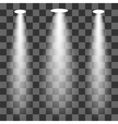Set of spotlights vector
