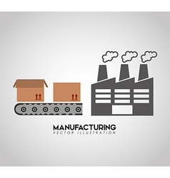 Manufacturing industry design vector