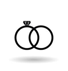 Wedding rings design vector