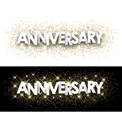 Anniversary paper banner vector