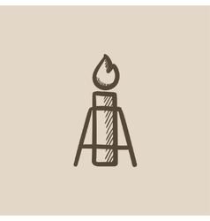 Gas flare sketch icon vector