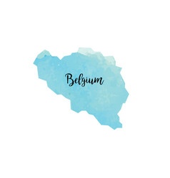 Abstract belgium map vector
