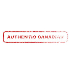 Authentic canadian rubber stamp vector