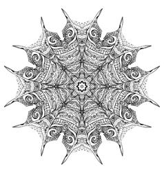 black and white zenmandala vector image