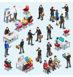 Business data set isometic people vector