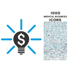 Business idea bulb icon with 1000 medical business vector