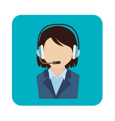 call center agent service icon vector image vector image