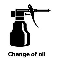 Change oil icon simple black style vector