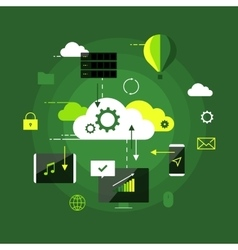 Cloud computing presentation infographic concept vector image vector image