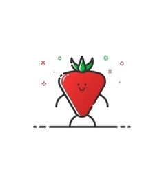 Funny strawberry character vector