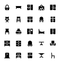 Furniture icons 2 vector