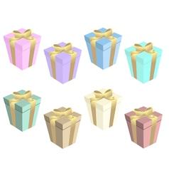 gift boxs set vector image vector image