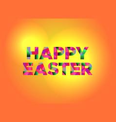 Happy easter theme word art vector
