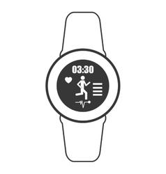 heartrate wrist tracker icon vector image