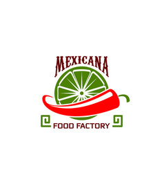 Icon for mexican food restaurant vector