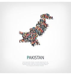 People map country pakistan vector