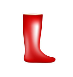 Red rubber boot vector