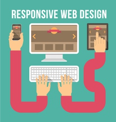 Responsive web design connection vector