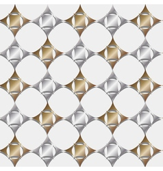 Seamless pattern gold and silver geometric vector image vector image