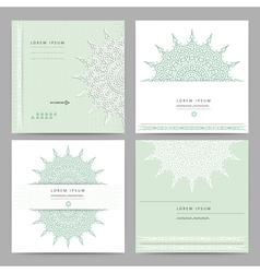 Set of ethnic circular greeting gentlecards and vector
