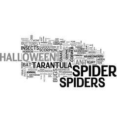 Spiders word cloud concept vector