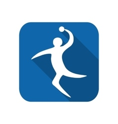 Sportsman man handball player vector image vector image