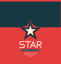 star in leaner flat style vector image vector image