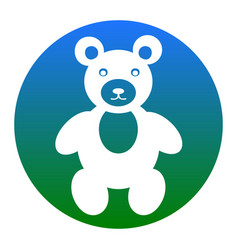 teddy bear sign white icon vector image vector image