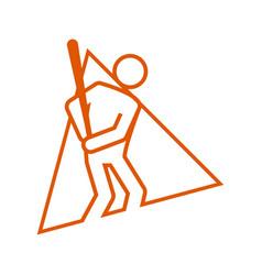 triangle shape baseball sport figure outline vector image