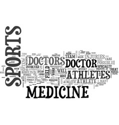 What is sports medicine text word cloud concept vector