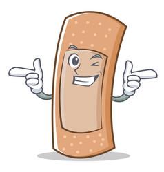 wink band aid character cartoon vector image vector image