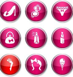 Women round icons vector