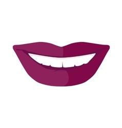 Women s smile with shining white teeth vector