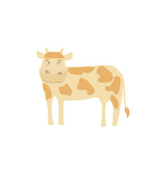 Young cow hand drawn vector