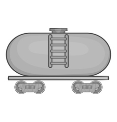 Tanker trailer on train icon monochrome style vector