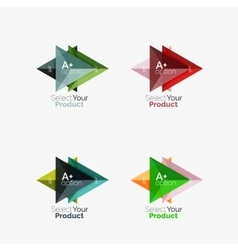 Set of triangle option infographic layouts vector