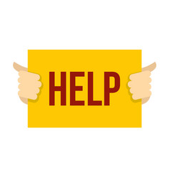 help icon flat style vector image