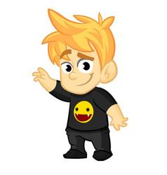 cartoon cool boy vector image