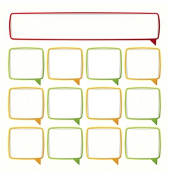 Colorful speech bubble frames Labels in the form vector image