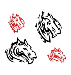 Tribal horses tattoos vector