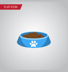 isolated kitty food flat icon cat eating vector image