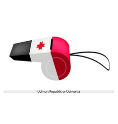 A whistle of the udmurt republic flag vector