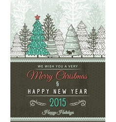 Beige christmas card with decorative ornament vector