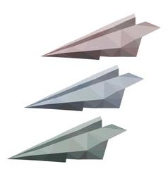 3 paper planes vector image